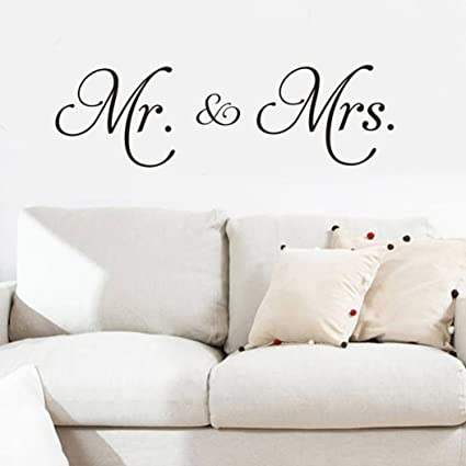 Amazon Com Sukeq Mr And Mrs Husband And Wife Couple Wall Sticker