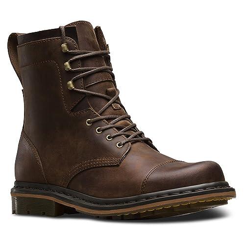 Dr. Martens Men's Sabien 7 Tie Boots Casual Boots, Brown Leather, 12 M