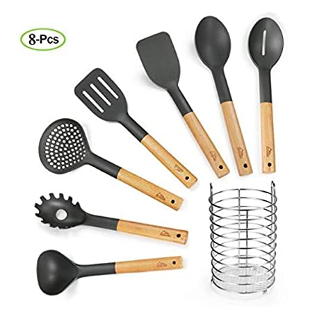amazon com kitchen utensil set premium nylon cooking utensils set rh amazon com best quality kitchen utensils brand high quality kitchen utensil set