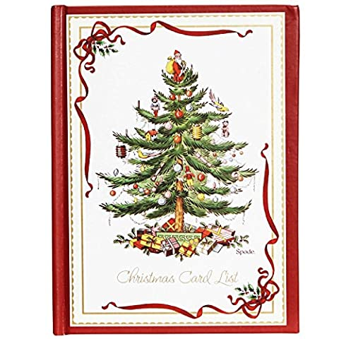 C.R. Gibson Spode Christmas Tree Card List Address Book (H3-13376) - Christmas Card Address Book