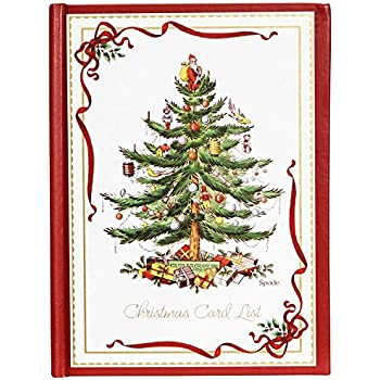 CR Gibson Spode Christmas Tree Card List Address Book H3 13376