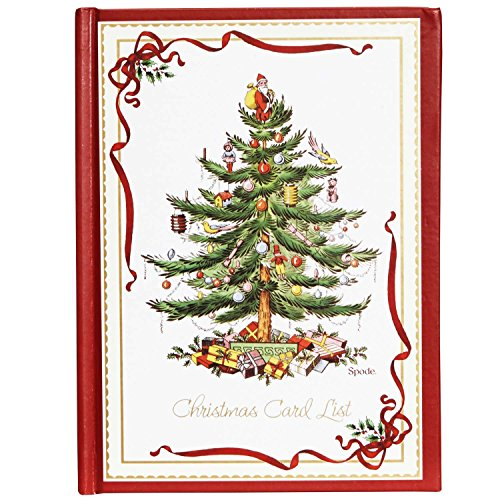 C.R. Gibson White and Red Christmas Card Address Book, 30 pgs, 5''W x 6.75'' H