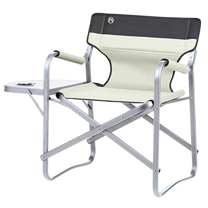 Amazon.com: Coleman Deck Chair Silla de camping con mesa ...