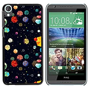Graphic4You COLORFUL ASTEROIDS PATTERN HARD CASE COVER FOR HTC Desire 820 by icecream design