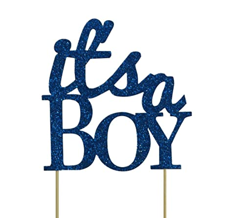 445e6594a4f27 All About Details Blue It's-a-boy Cake Topper