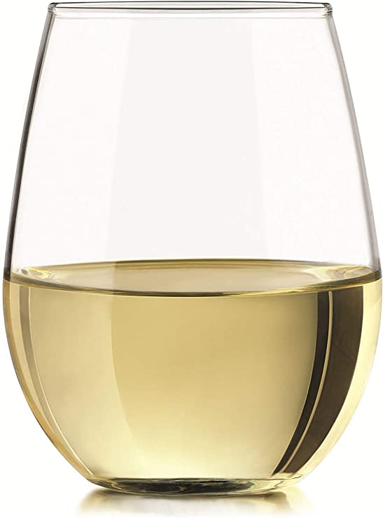 Libbey Glass Vina Valentine/'s Day Red Stem 16oz Wine Glasses Set of 4