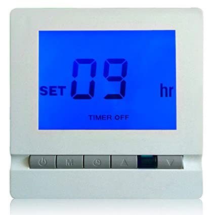 Regulador de Temperatura Ambiente Digital de Termostato Electrónico Azul