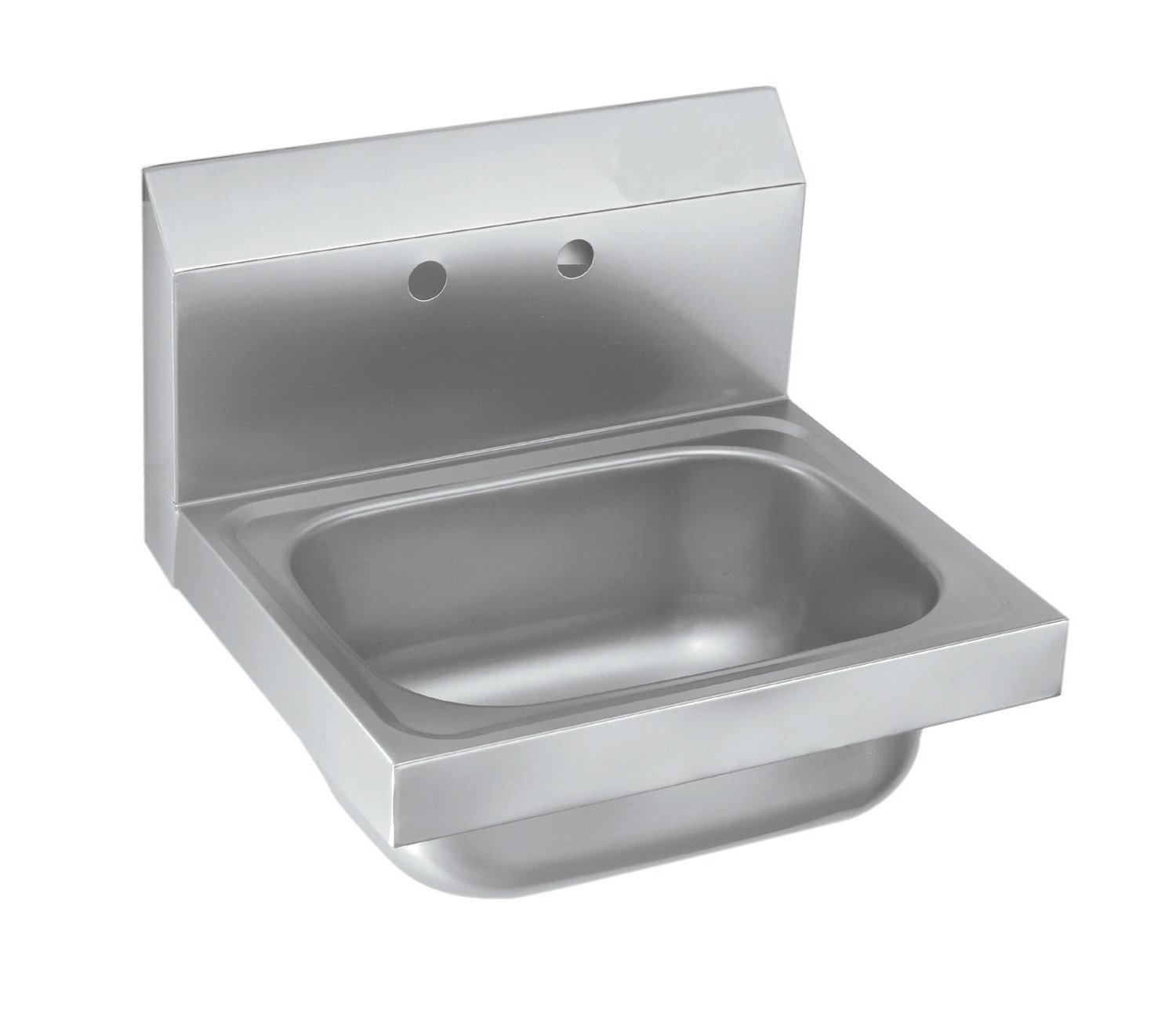 EQ Kitchen Line Stainless Steel Commercial Compartment Sink, 17'' L x 15'' W x 13'' H