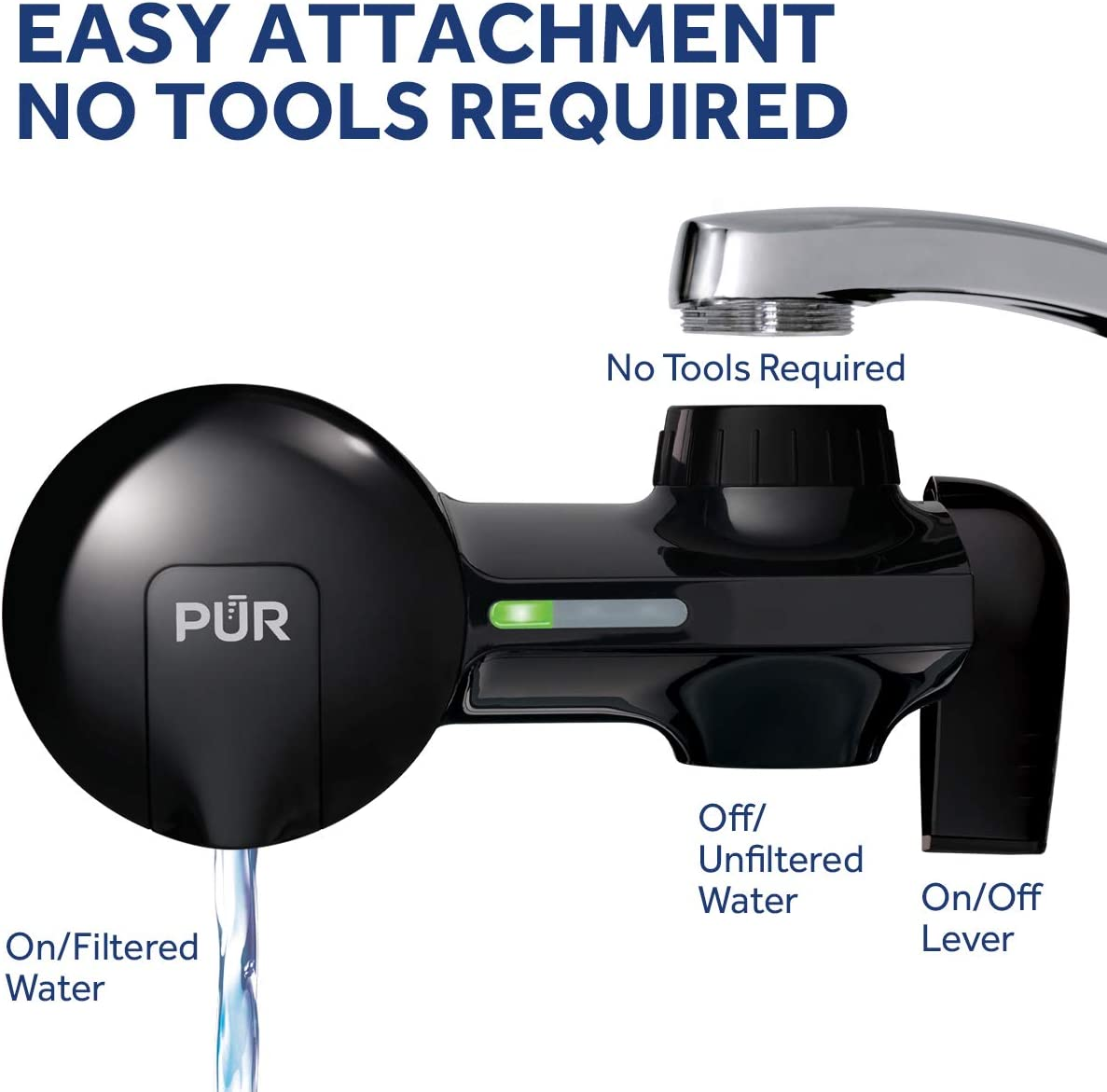 PUR PFM100B Faucet Mount Water Filter - Easy to intall