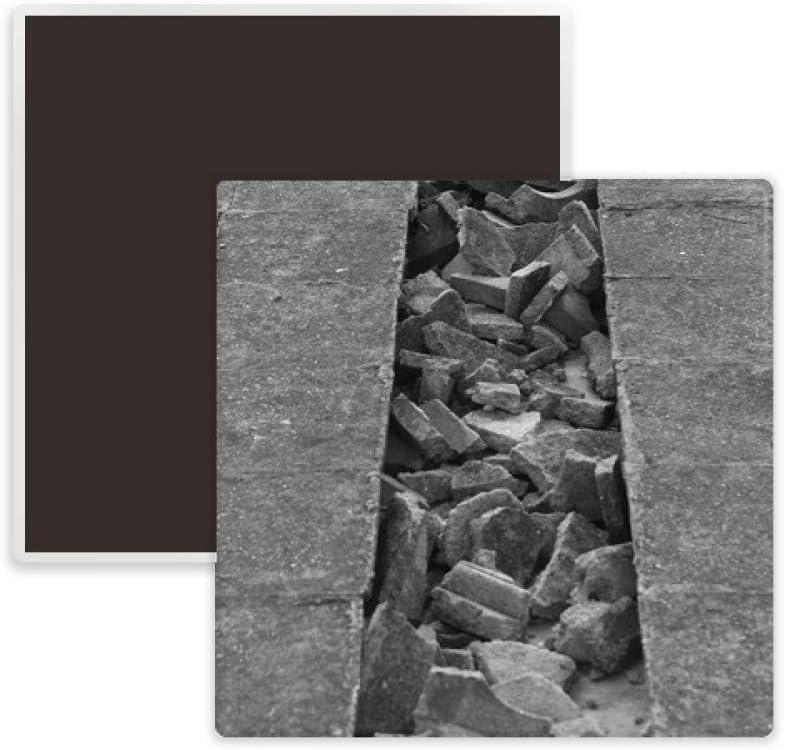 Industrial Material Modeling Photography Square Ceramics Fridge Magnet Keepsake Memento