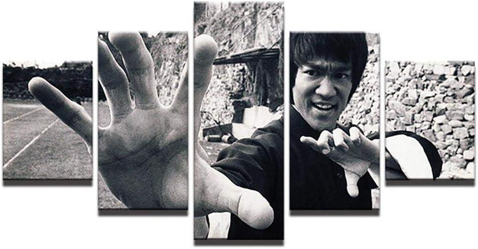 Decorativos murales cinco kung fu estrella de cine Bruce Lee fuentes clásicas suministro transfronterizo Dunhuang AliExpress Amazon,la