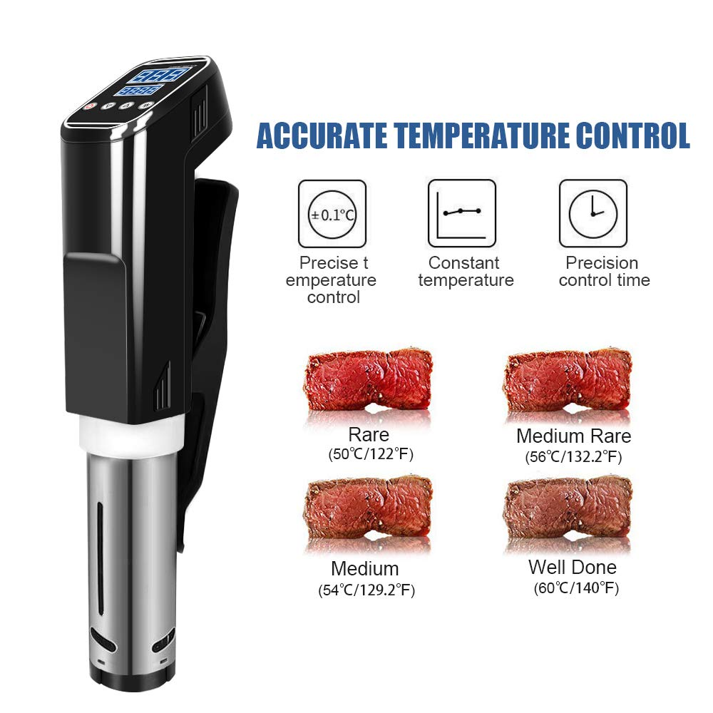 Sous Vide Cooker Accurate Immersion Cooker,1000W,Easy To Use Temperature and Time Settings by Fofashion (Image #6)