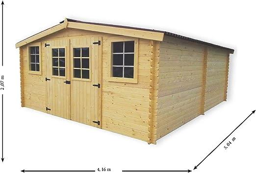 Cobertizo de jardín de madera, 416 x 514 cm, maderas de 28 mm. Entrega y montaje: Amazon.es: Jardín