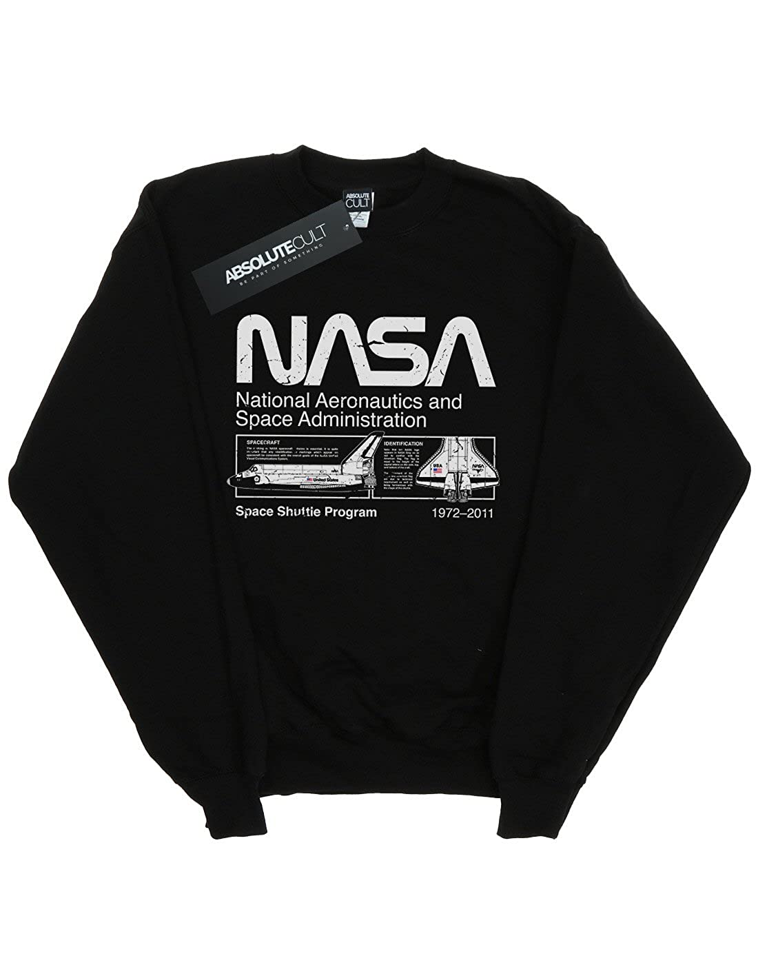 Absolute Cult NASA Boys Classic Space Shuttle Sweatshirt