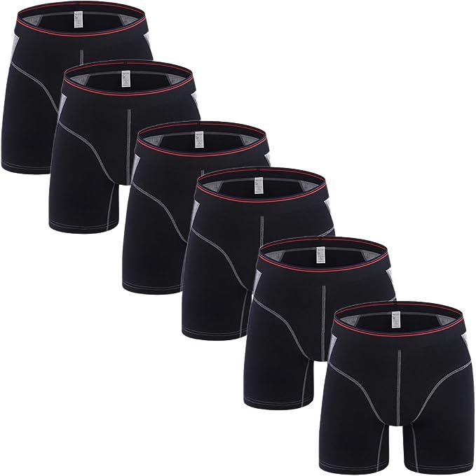 7-Pack Comfy Mens Underwear SLJ Mens Boxer Briefs Underwear