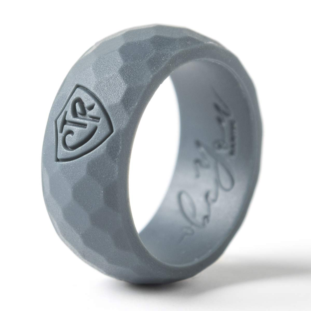 Be You Bands - Men's CTR Silicone Ring (Charcoal Gray, 10)