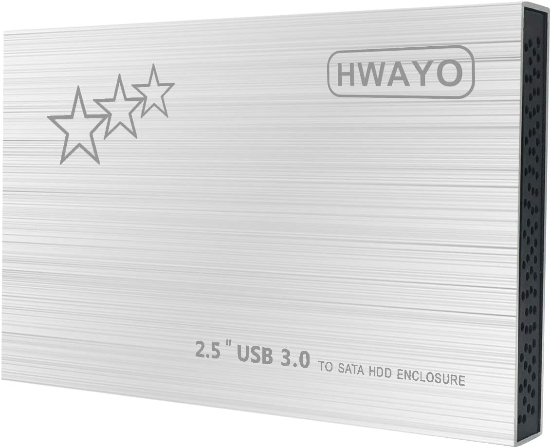 160GB External Hard Drive Portable - HWAYO 2.5'' Ultra Slim HDD Storage USB 3.0 for PC, Laptop, Mac, Chromebook (Silver)