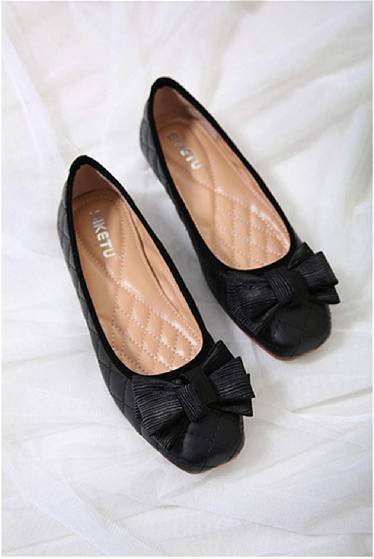 Cyy@Espadrilles/Donna/Scarpe Slip On Flats/Basse Casuali Scarpe/Casuali ScarpeTempo libero Comfort Testa quadrata piatta, nera, 36black