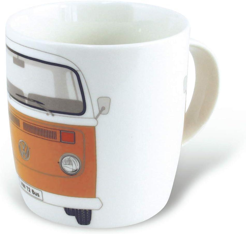BRISA VW Collection - Volkswagen Samba Bus T2 Camper Van Coffee Mug, Tea Cup for Kitchen, Garage, Office - Camping Equipment/Gift-Idea/Souvenir (Design: Orange)