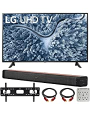 LG 65 Inch UP7000 Series 4K LED UHD Smart webOS TV (2021 Model) Bundle with Deco Home 60W 2.0 Channel Soundbar, 37-70 inch TV Wall Mount Bracket Bundle and 6-Outlet Surge Adapter photo
