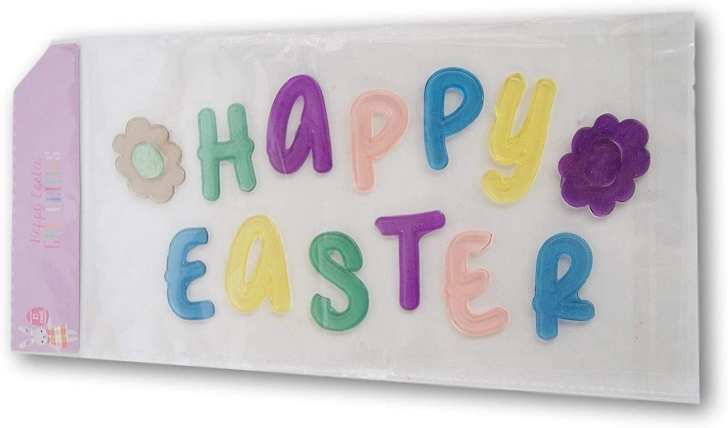 Easter Themed Happy Easter Gel Window Clings - 13 Piece