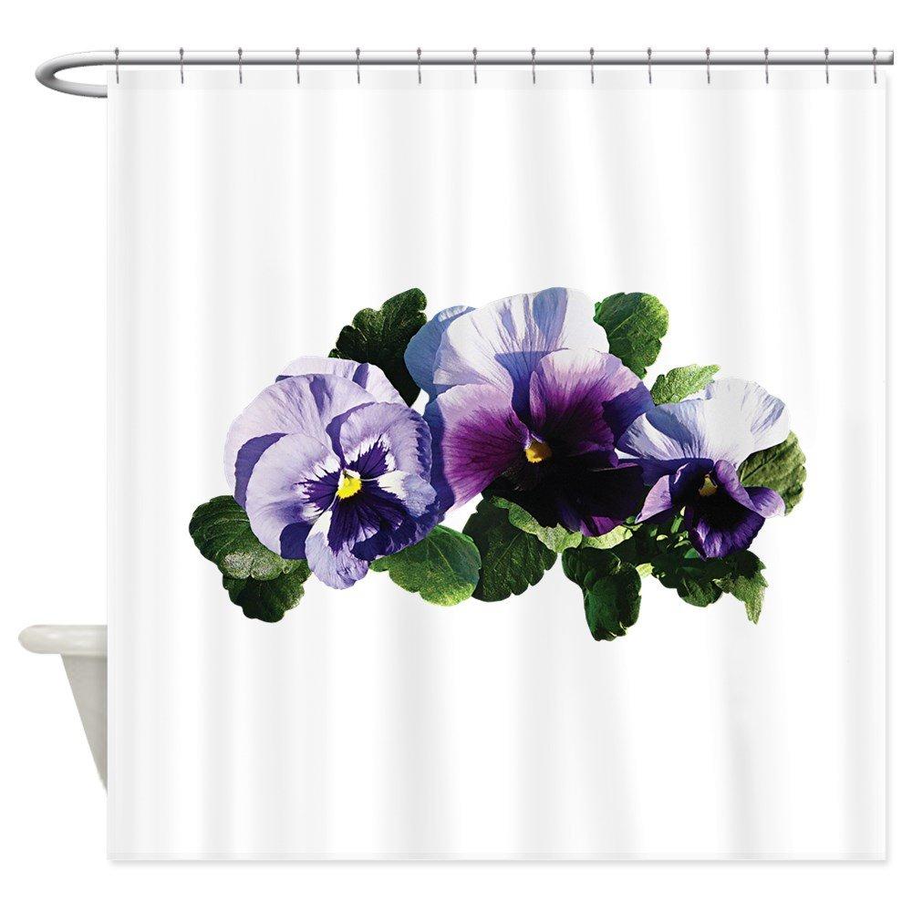 Amazon CafePress Three Purple Pansies Shower Curtain Decorative Fabric 69x70 Home Kitchen
