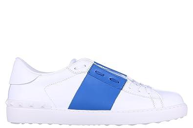 7e2e513909ba7 VALENTINO GARAVANI Men's Shoes Leather Trainers Sneakers White UK Size 10  KY0S0830 BLU B42