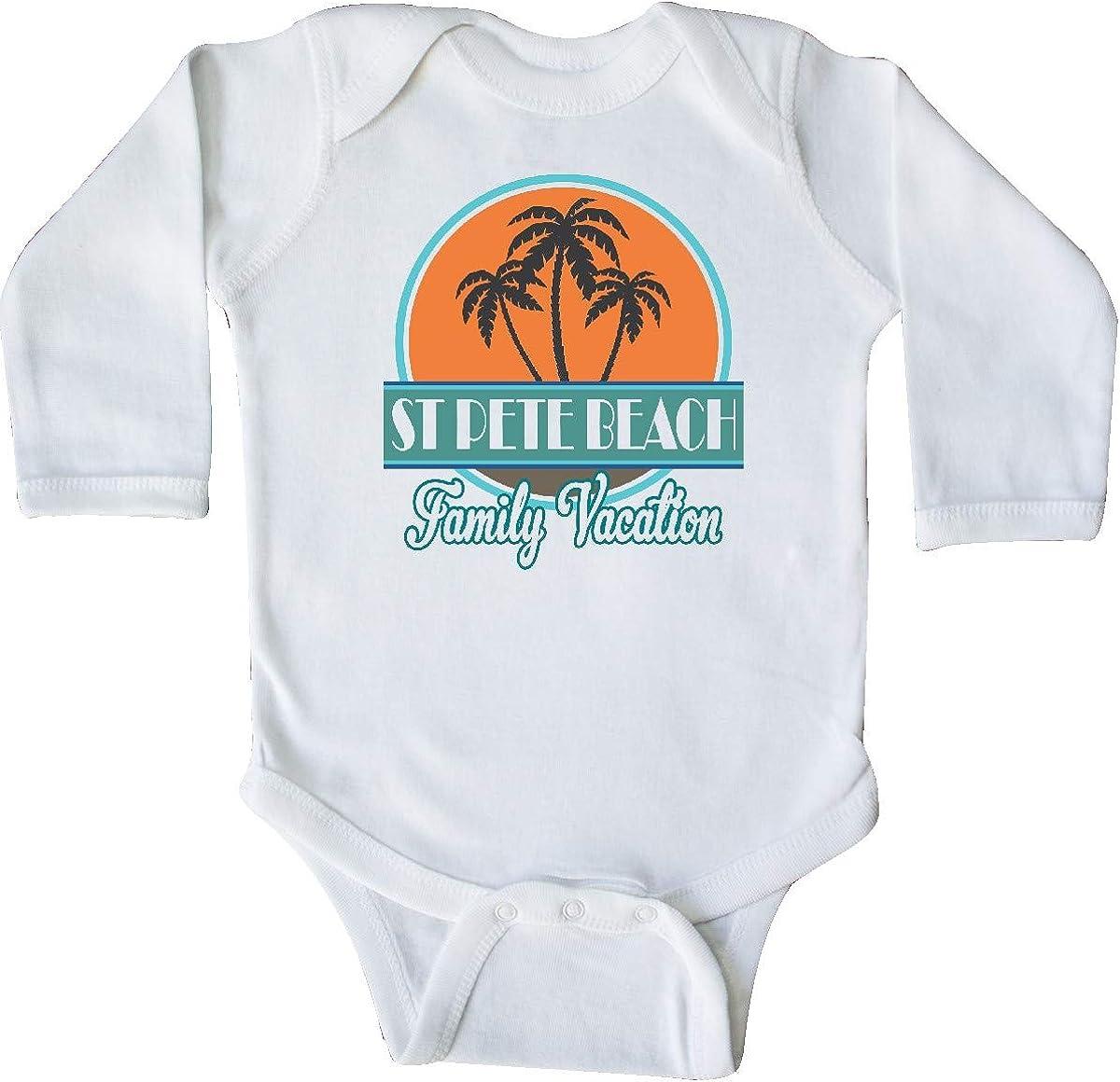 inktastic St Pete Beach Florida Family Vacation Long Sleeve Creeper