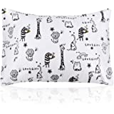 Kids Pillow with Pillowcase,Soft Organic Cotton Toddler Children's Pillows 13X18 for Girls Boys Sleeping,Washable,Best Kids Gift