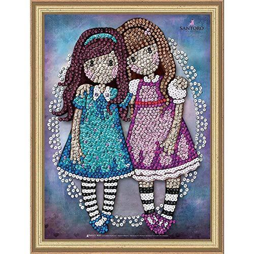 (Sequin Art Gorjuss FRIENDS WALK TOGETHER Sparkling Arts and Crafts Kit)