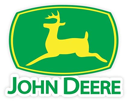 amazon com john deere logo sign sticker decal 5 x 4 everything else rh amazon com john deere logos through the years john deere logos for sale