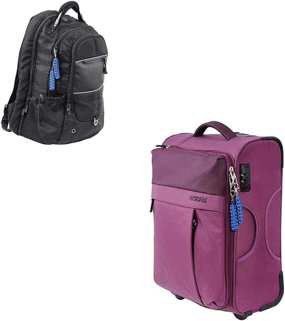 Suitcase Backpack Bag UK MADE UK SELLER FAST/&FREE 4pack Zip Pulls Paracord550