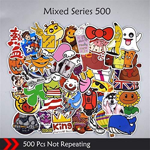 (Mixed Style Stickers Cute Cartoon Waterproof Graffiti Sticker Laptop Fridge Guitar Skateboard Moto Wallpaper Decal Stickers (500 PCS) )