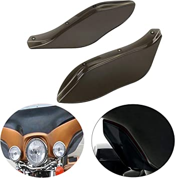 Pair Air Deflectors Windshield for Harley Touring FLHT Road King FLHR 1996-2013