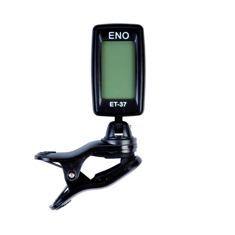 Eno ET37 Accordeur-Clip chromatique pour Guitare/Basse/Violon/Ukulélé/Vents Noir ET-37 Accordeurs