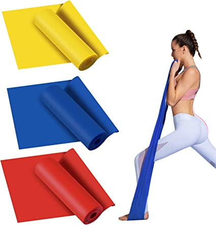 Pilates And Yoga Stretch Latex Resistance Band Pull Up Power Exercise Stretching