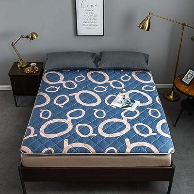 zlzty Colchón Plegable Doble, colchón Plegable para Dormitorio estudiantil, Alfombrilla de Tatami portátil para engrosar para Acampar en casa @ J_120 * 200 cm: Hogar