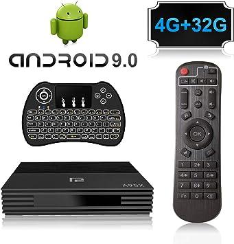 A95X F2 Android 9.0 Smart TV Box con Amlogic S905X2 Quad Core CPU,4GB RAM 32GB ROM 4K 3D 2.4GHz/5.0GHz WiFi Bluetooth 4.0 con Mini Wireless Backlight Keyboard: Amazon.es: Electrónica