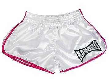Kanong Damen Muay Thai Kick Boxing Boxen Hosen Shorts KNSWO-402-Pink Size XL