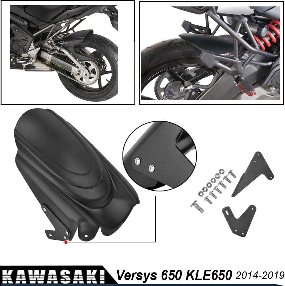 LoraBaber For Kawasaki Versys 650 KLE650 Rear Hugger Fender Mudguard Wheel Cover Tire Splash Guard 2014-2019 Versys650 2015 2016 2017 2018