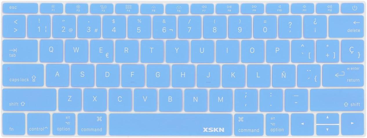 Funda de silicona para teclado español  paraMacBook Pro 13--