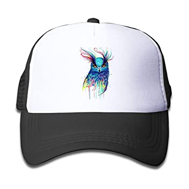 Moda casa búho Colorido niño y niñas Snapback Malla Sombreros de ...
