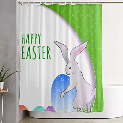 Amazon Com Bonsai Tree Easter Eggs Bunny Funny Fabric Shower