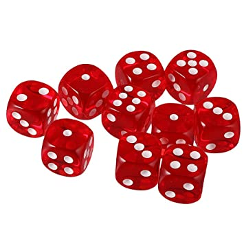 ISHARAA Pack of 27 Red Six Sided D6 Dice for Playing D&D Warhammer RPG Board Game Favours