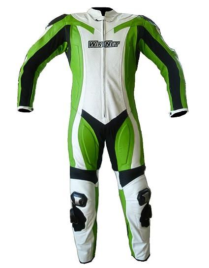 Amazon.es: Winnet Chándal de auténtica piel de para moto con ...