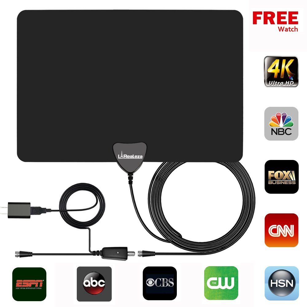 TV Antenna Indoor Amplified HDTV Antenna, TV Antenna for Digital TV 50-80 Mile Range,HD Digital TV Antenna UPGRADED 2018 VERSION, with Detachable Signal Booster Support 4K 1080p & All Older TV's