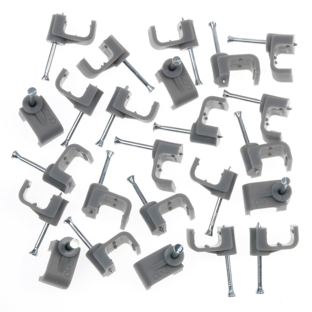 SupaLec Cable Clips - Flat 6mm (190817)