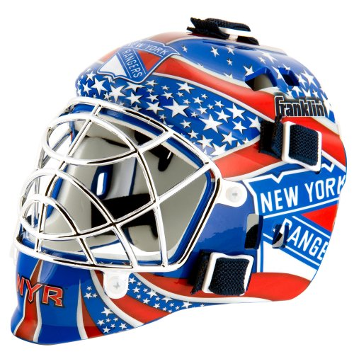 Franklin Sports NHL League Logo New York Rangers Mini Goalie (Franklin Mask)