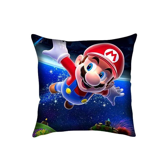 Super Mario Galaxy 2 Custom manta fundas de almohada 18 x 18 ...