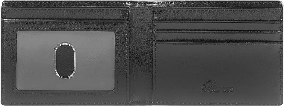 Slim Minimalist Front Pocket Mens Wallet Genuine Leather Credit Card ID Holder